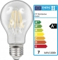 Preview: LED Filament Leuchtmittel E27 7W warmweiß  810lumen EEK A+