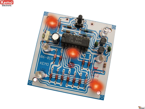 Elektronischer Würfel B093 Kemo Bausatz   Lüdeke Elektronic