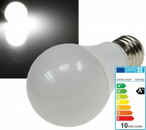 led leuchtmittel e27 10w 820lm kaltwei 4000k eek a l deke elektronic. Black Bedroom Furniture Sets. Home Design Ideas