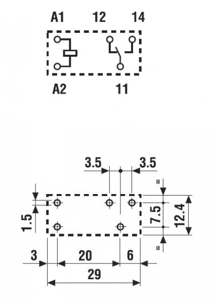 Finder Relais 24V DC 40.31.8.024.0000 1x UM max 10A