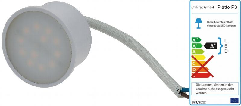 LED Leuchte neutralweiß 4000K 230V 3W 280lm 50x28mm für ...