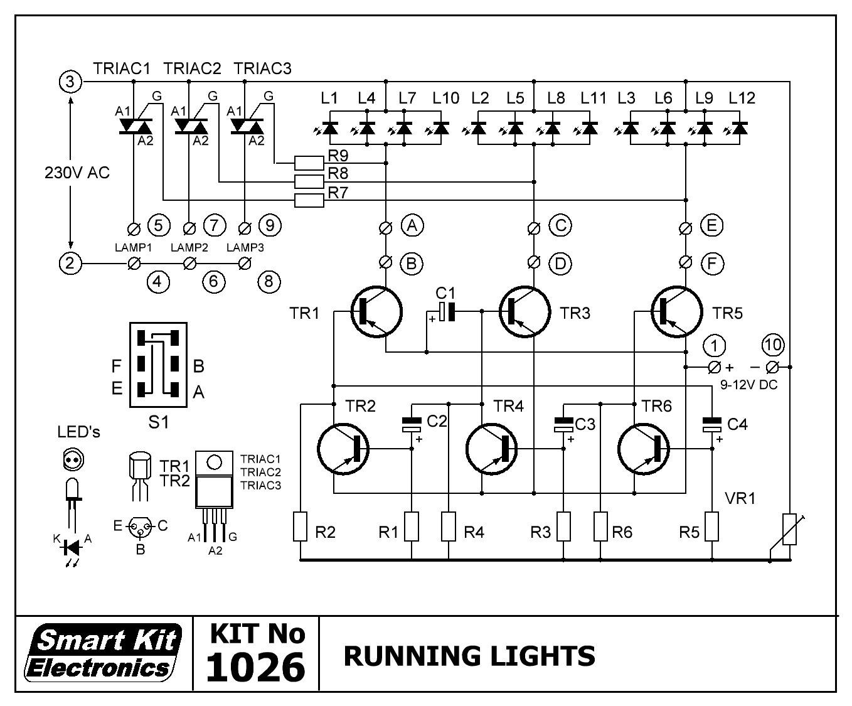 3-Kanal LED-Lauflicht Lichteffekt 9V - 12V B1026 Smart Kit Bausatz ...