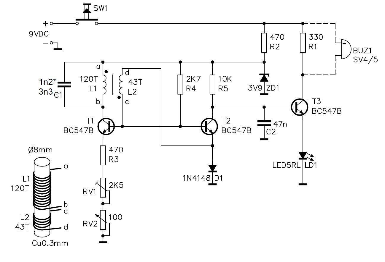 Metall detektor Metalldetektor 9V K7102 Velleman Bausatz | Lüdeke ...