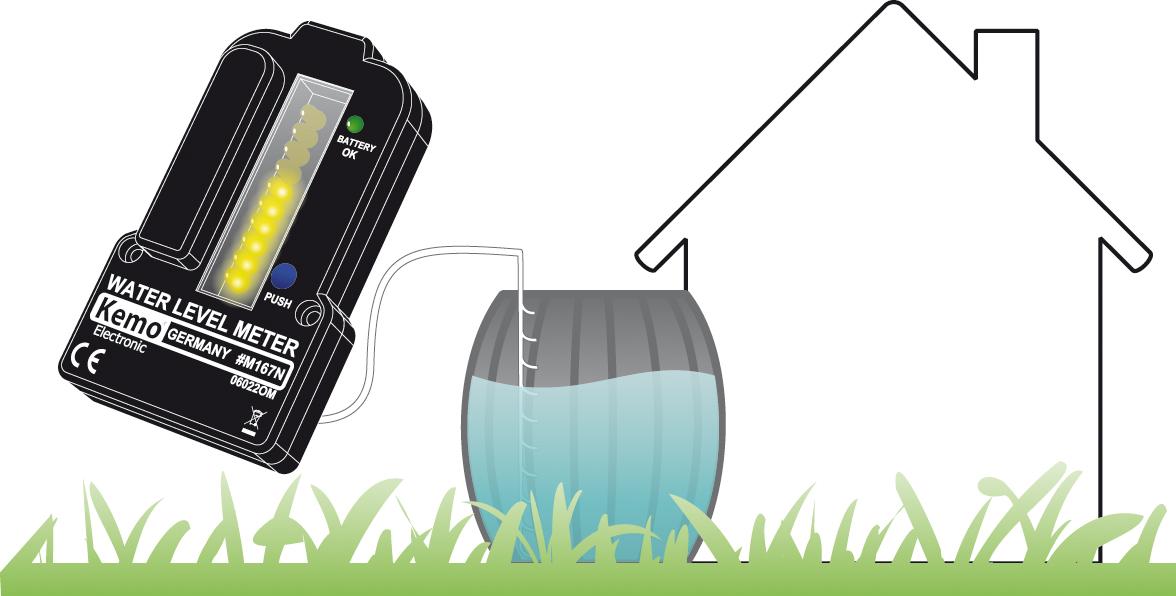 Drahtlose Ultraschall Tank Füllstandsmesser Mit Temperatursensor Regenwassertank