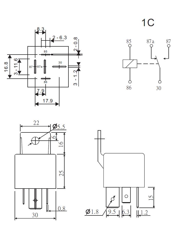 24v kfz relais mit wechslerkontakt 80a 60a lastrelais l deke elektronic