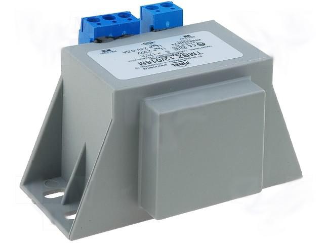 AC vergossen Netztrafo AC 230V auf 24V AC 0,5A mit Anschlußklemmen TRAFO