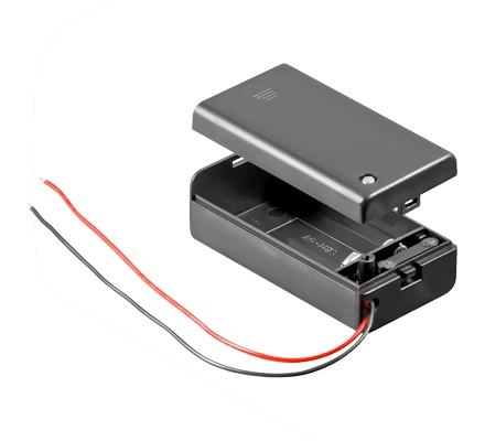 batteriehalter 1 x 9 volt block geschlossen ohne schalter. Black Bedroom Furniture Sets. Home Design Ideas