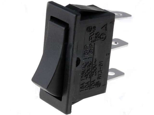 Wippenschalter Kippschalter Eckig Einbauschalter Schwarz Umschalter 6 POLIG 120V