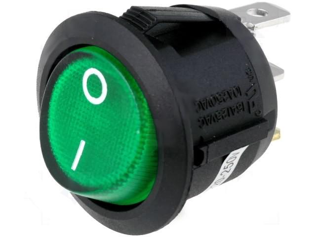 1-polig 230V3A Wippenschalter S2 EIN//AUS Mini Schalter Einbauschalter