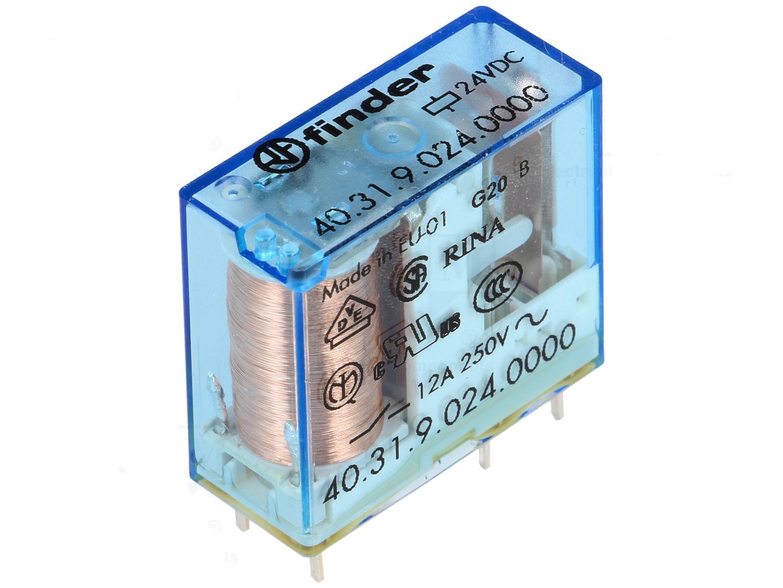 finder relais 24v dc 1x um max 10a l deke elektronic. Black Bedroom Furniture Sets. Home Design Ideas