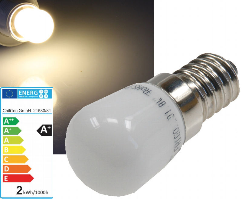 Led leuchtmittel e14 230v 2w warmweiß 3000k 140lumen lüdeke elektronic