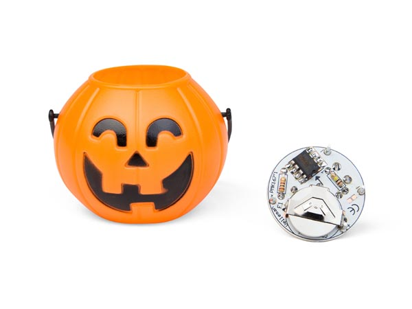 Halloween Kürbis mit flackernden LED MK202 Velleman Bausatz | Lüdeke ...