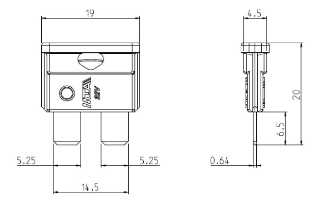 KFZ Sicherungshalter für 19mm Sicherungen anreihbar mit Kabel Keystone Keystone