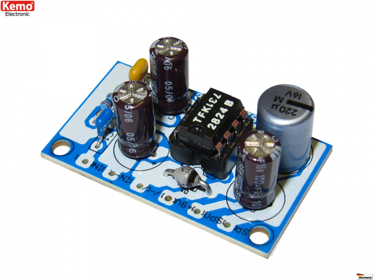 1 Watt Verstrker 6v 9v B182 Kemo Bausatz Ldeke Elektronic Mono Audio Amplifier Circuit Using Tda2002 Electronic Elektronik