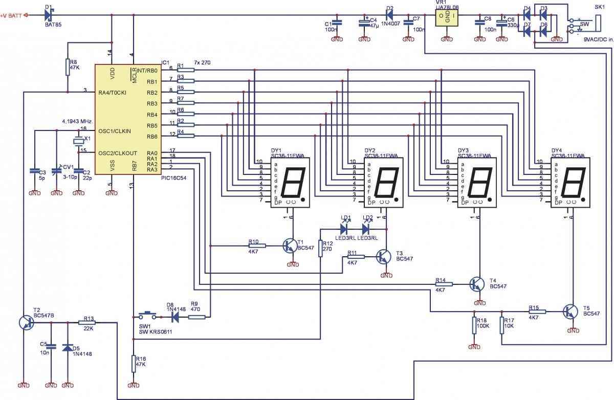 Digitale Led Uhr 9v Mk151 Velleman Bausatz Ldeke Elektronic Rgb Wiring Diagram