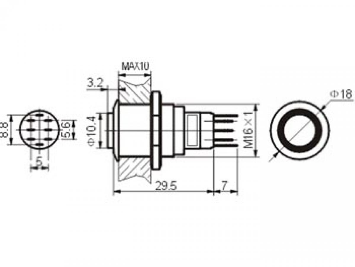 Druckschalter R1710W 0,5A/230V SPDT weiß Velleman | Lüdeke Elektronic