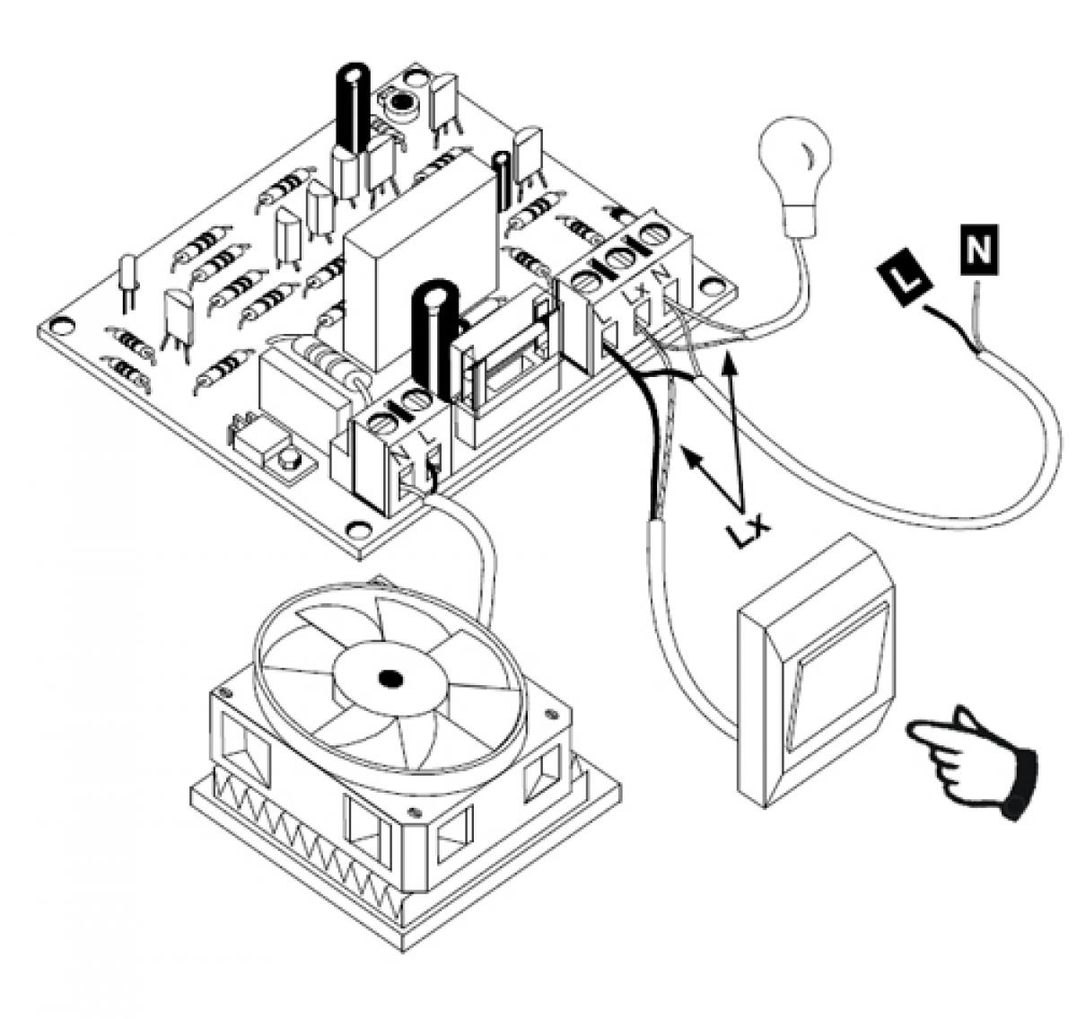 Popular Lüfter Zeitsteuerung Timer Nachlauf Nachlaufrelais 230V AC 200W JN95