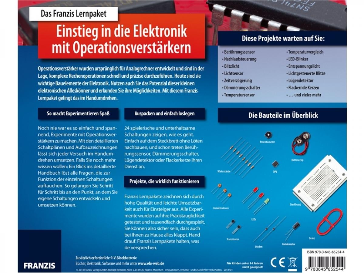 Lernpaket Einstieg in die Elektronik mit Operationsverstärkern Alter ...
