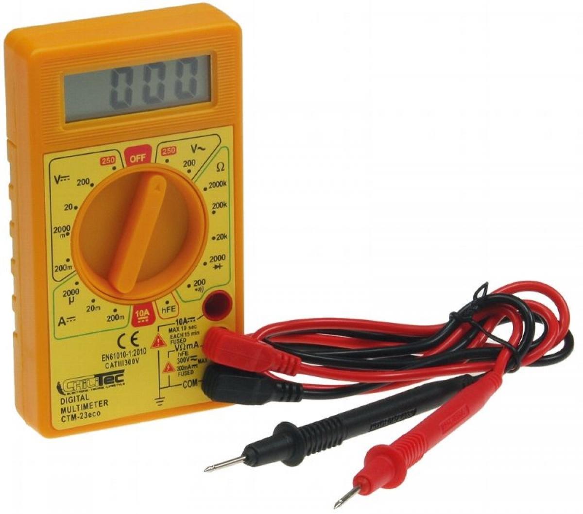 Digital Multimeter 3,5-stelliges kleines Messgerät CTM-23 eco ...