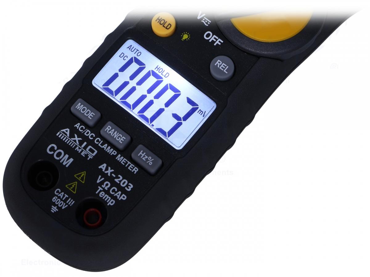 Multimeter Zangenmessgerät Zangenamperemeter AC & DC max 400A & 600V ...
