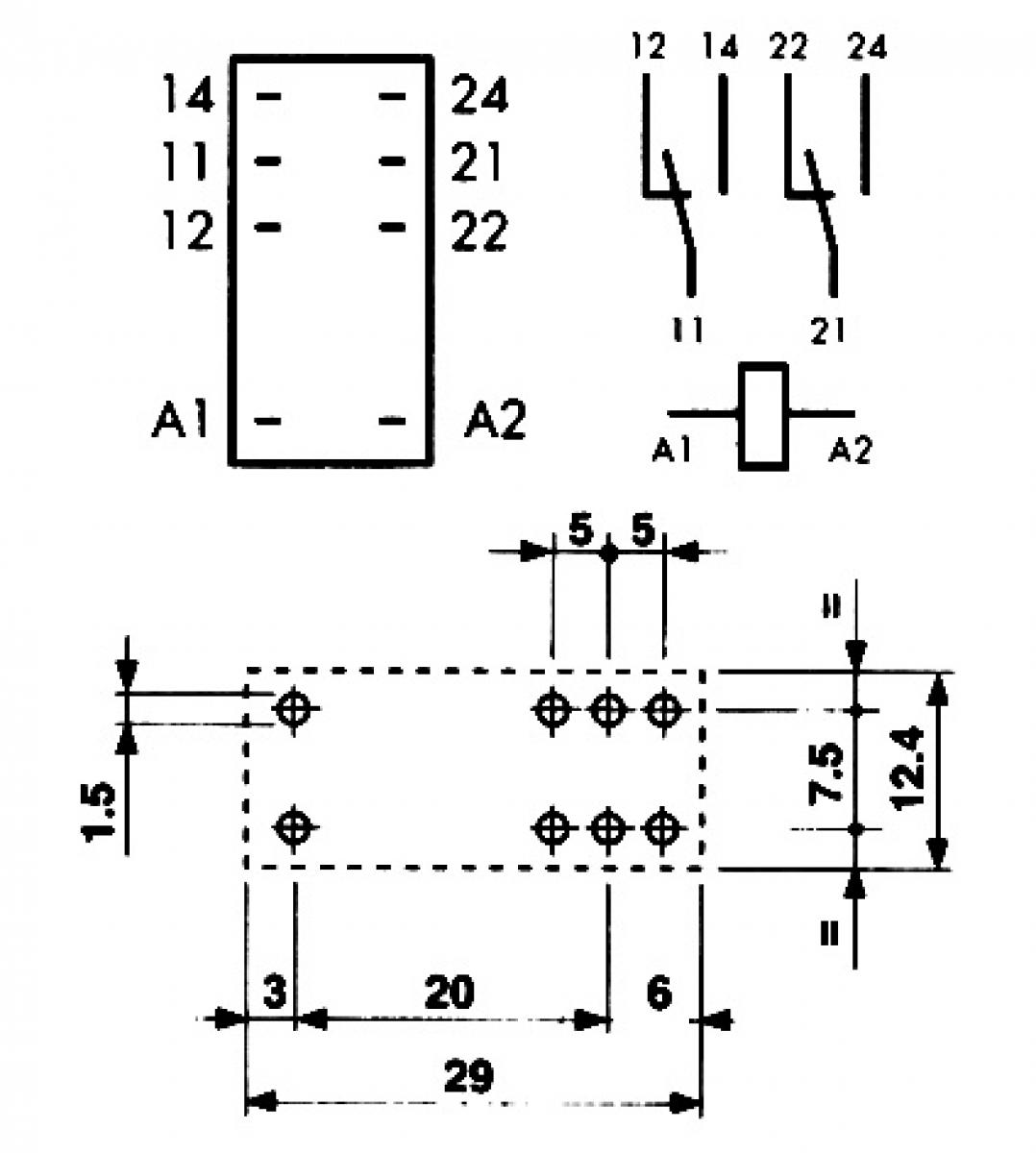 finder relais 24v dc max 8a 2x wechselkontakt l deke elektronic