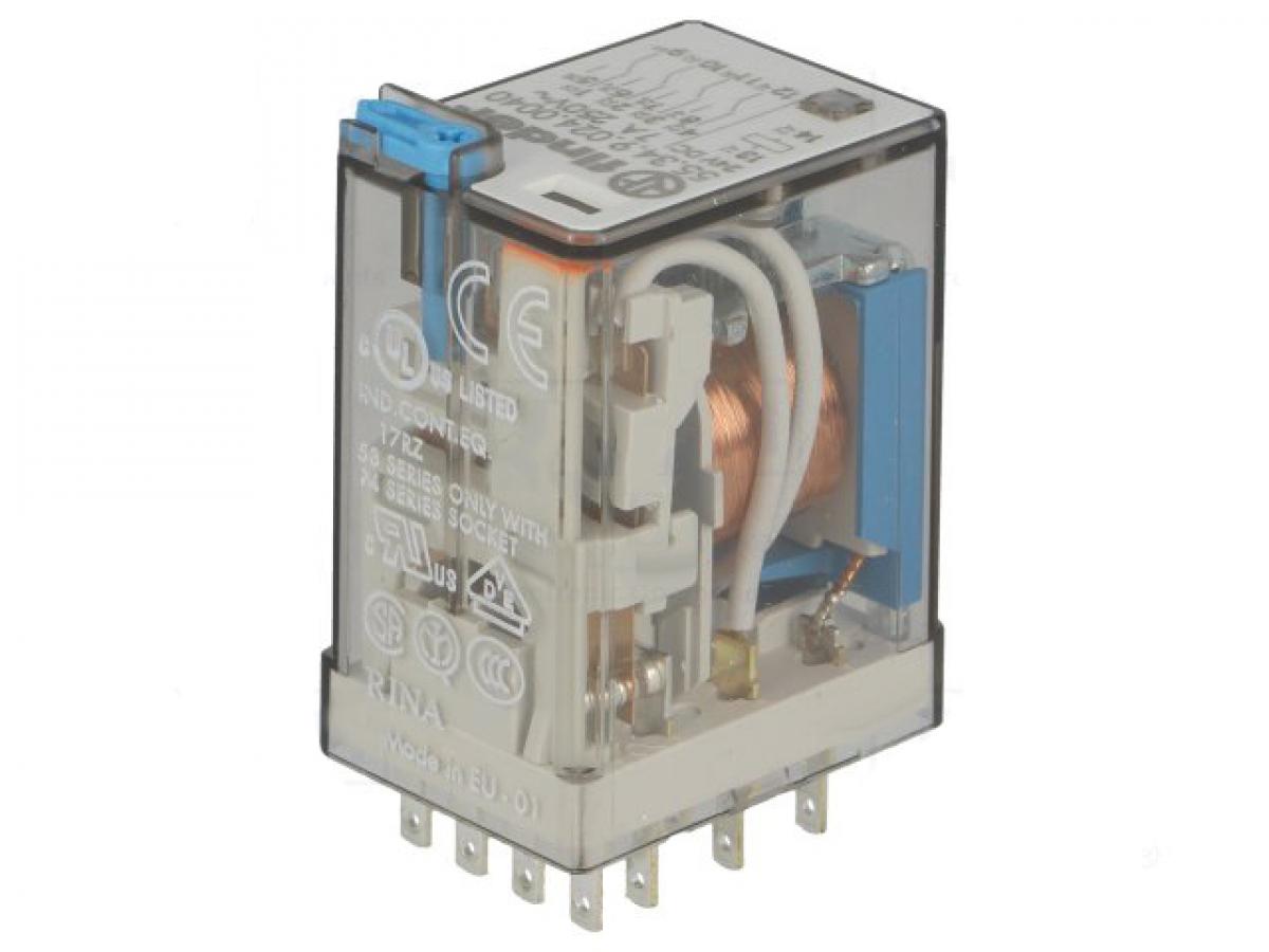 Finder Relais 24V DC 4x UM max 7A 250V AC Industrierelais 55.34 ...