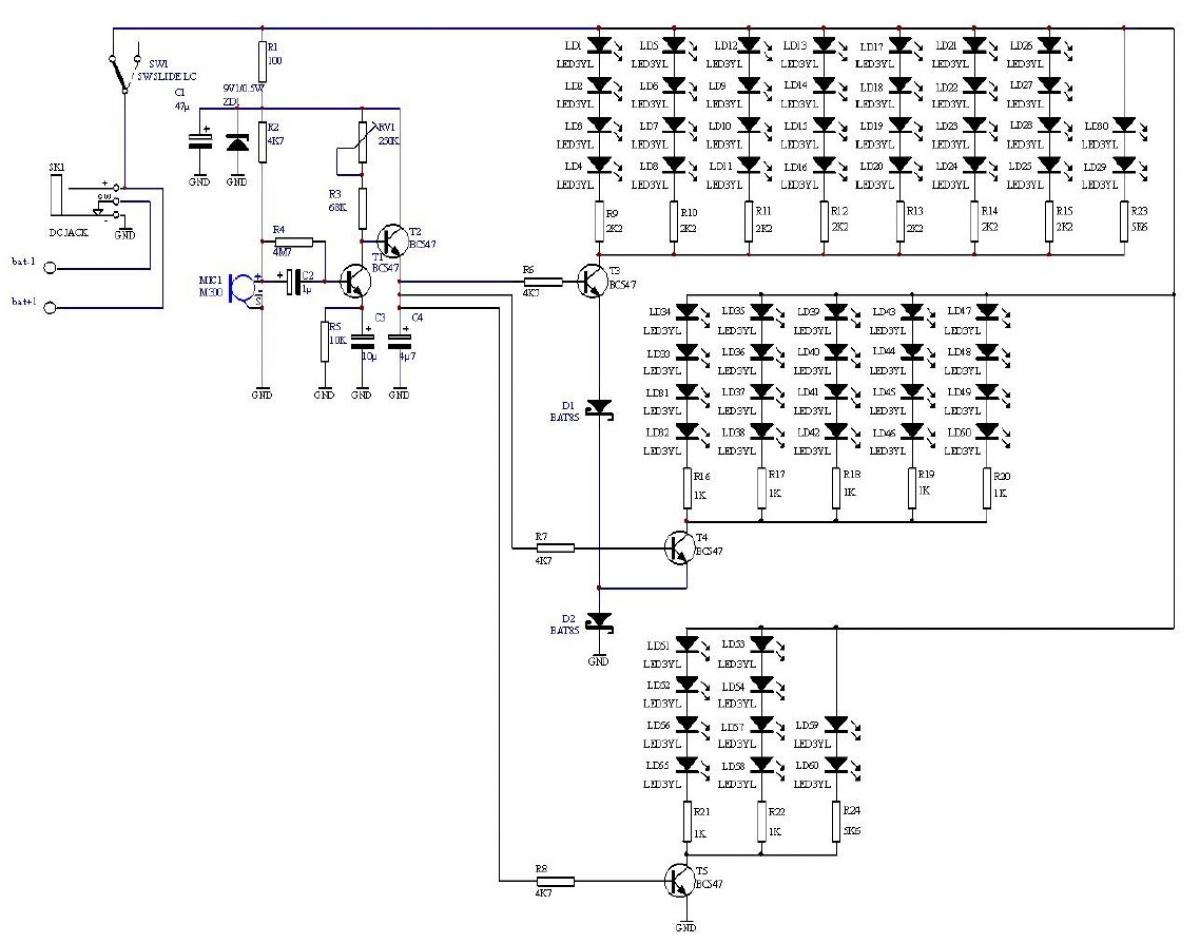 Sound LED Stern VU-Meter 9V - 12V MK172 Velleman Bausatz | Lüdeke ...