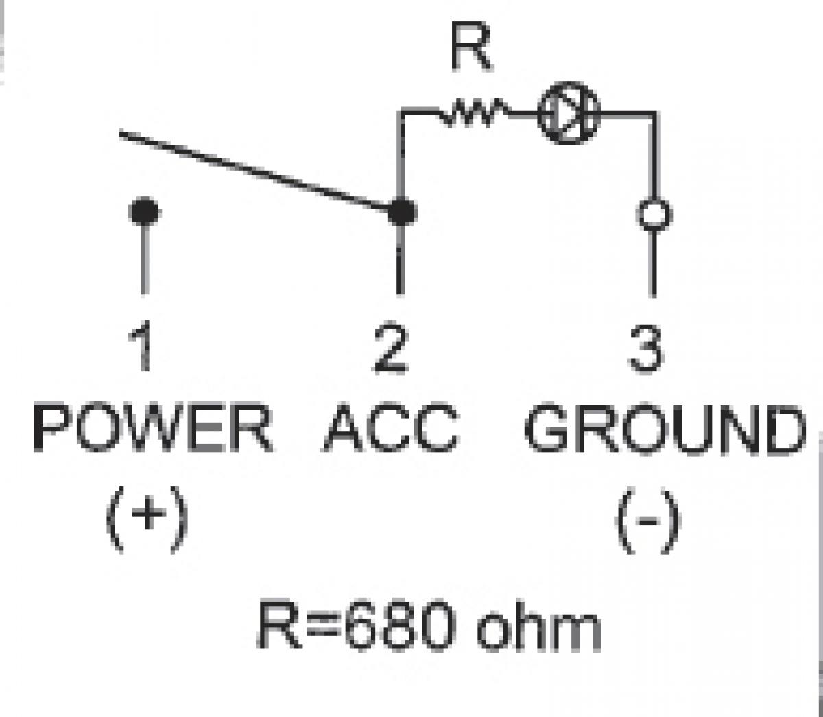 Wippenschalter schwarz inkl roter Kontrolleuchte OFF - ON für 12V DC ...