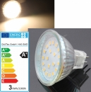 LED Leuchtmittel MR16 12V 20x SMD LEDs WarmWeiß 3000k 280Lumen 3Watt